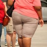 肥満の女性の後ろ姿