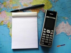 携帯電話とメモ帳